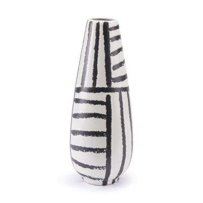 Black and White Croma Medium Decorative Vase