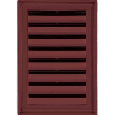 12 in. x 18 in. Rectangle Gable Vent #078 Wineberry
