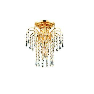 Palm Tree 1-Light gold Flush Mount