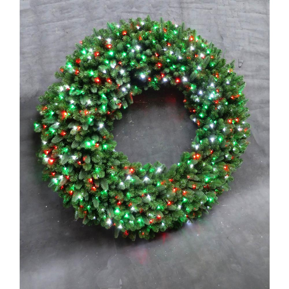 Home Accents Holiday 60 In Led Pre Lit Artificial Christmas Wreath With Micro
