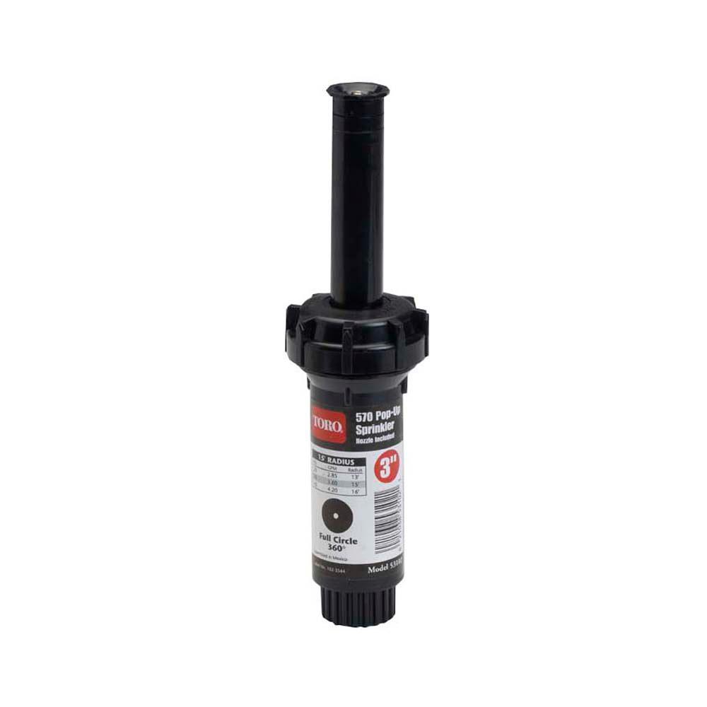570Z Pro 3 in. 15 ft. Half Circle Pop-Up Pressure-Regulated Sprinkler