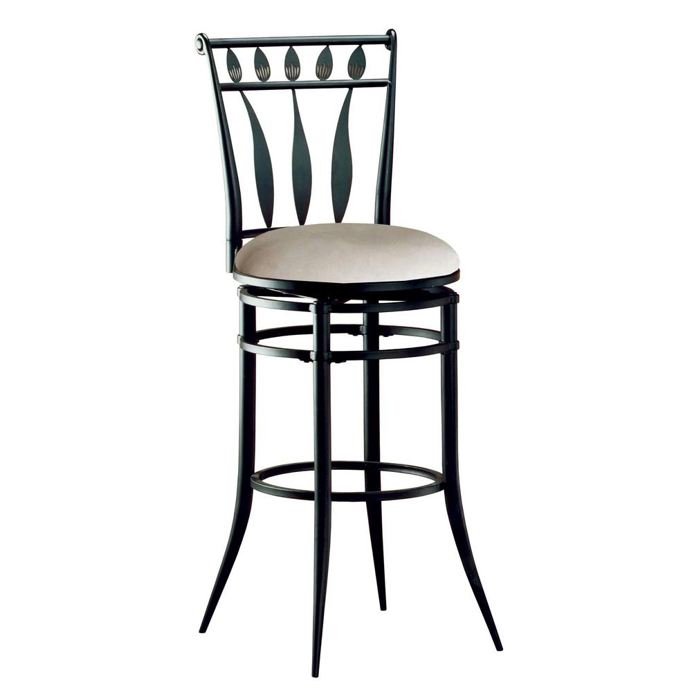 Hilale Furniture Hudson 30 In Black Swivel Bar Stool