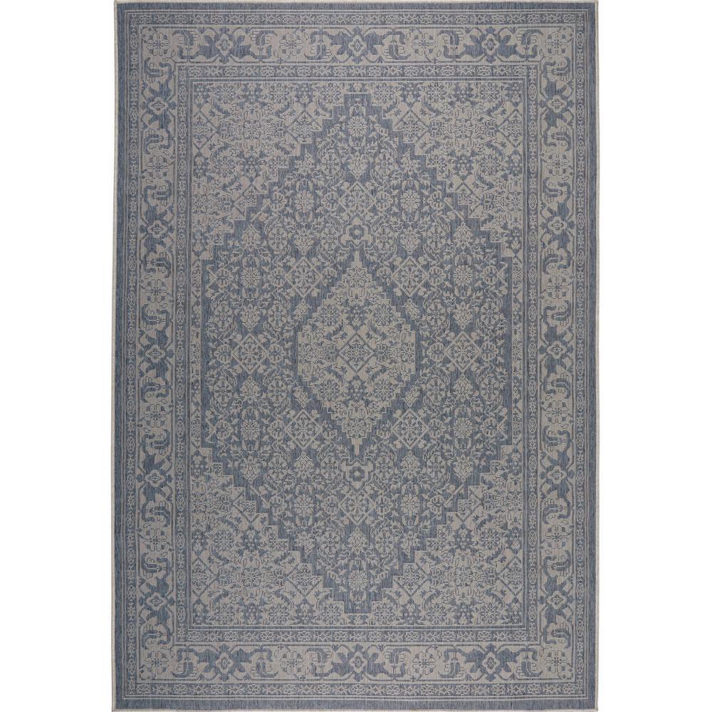 Patio Country Blue/Gray 7 ft. 9 in. x 10 ft. 2 in. Indoor/Outdoor Area Rug