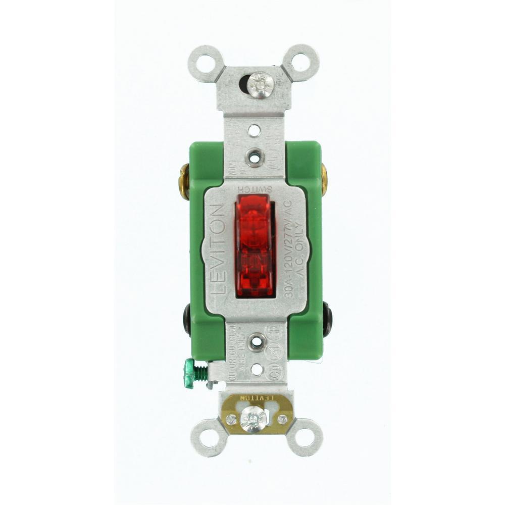 Leviton 30 Amp Industrial Grade Heavy Duty Double-Pole Pilot Light ...