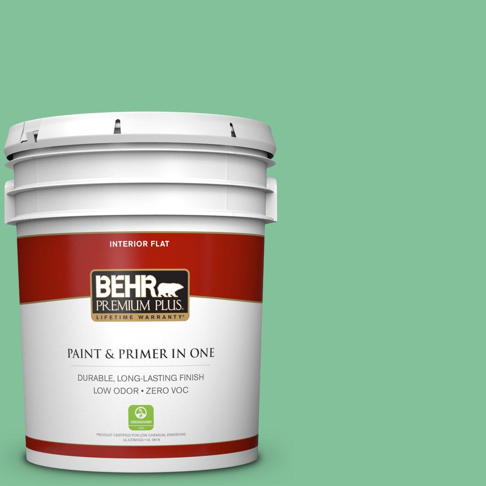BEHR Premium Plus 5-gal. #P410-4 Willow Hedge Flat Interior Paint
