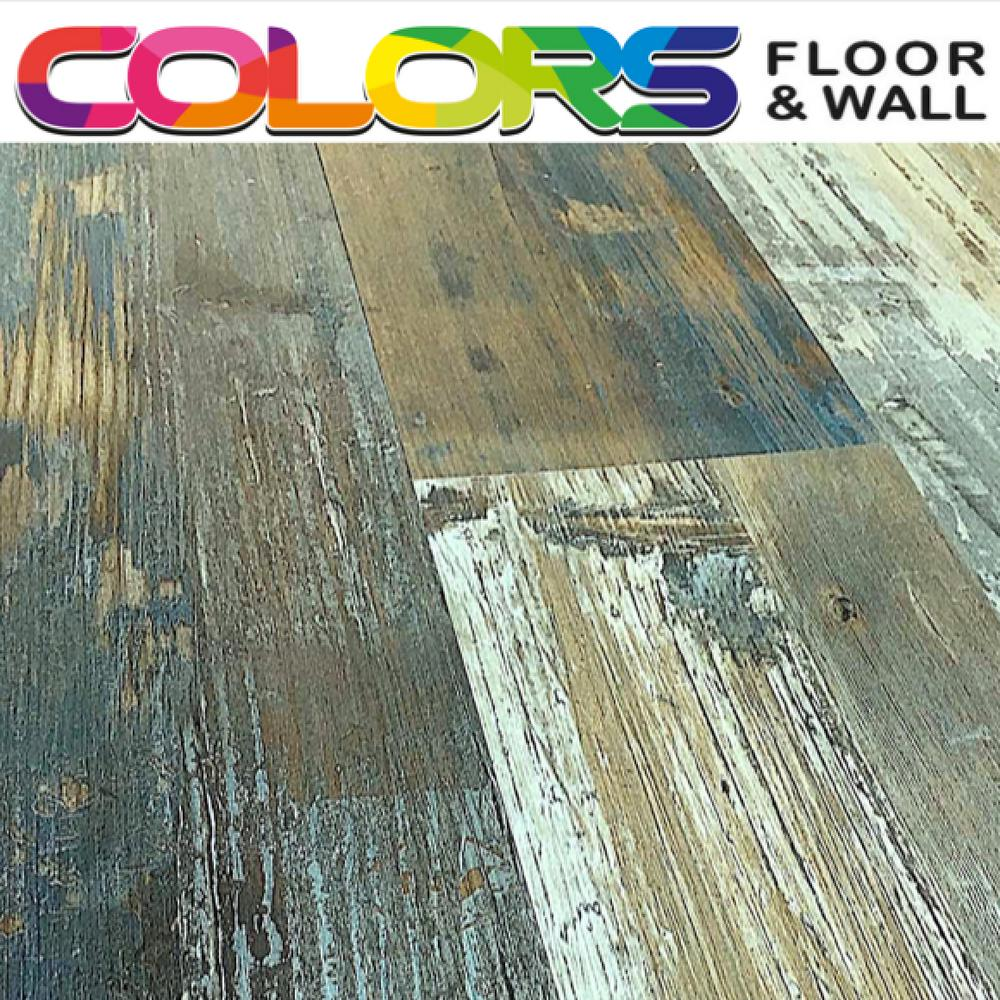 Deco Products Colors Floor and Wall DIY Swing Wood Aged 6 in. x 36 in. Painted Style Luxury Vinyl Plank (30 sq. ft. / case)