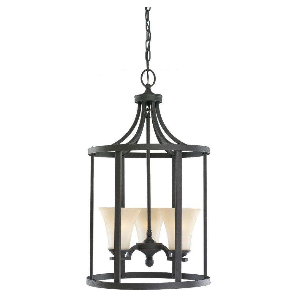 Foyer Chandelier Home Depot : Sea gull lighting somerton light blacksmith hall foyer