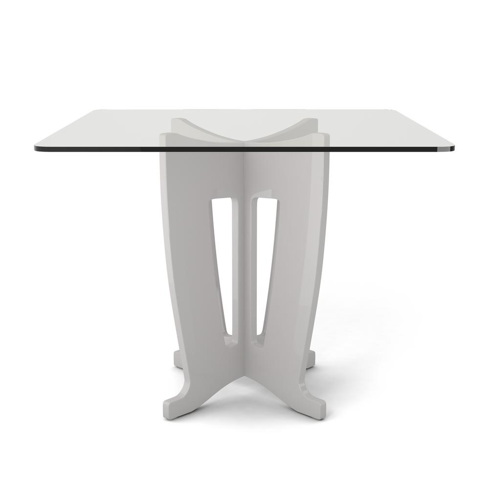 Black glass table top - Off White Sleek Tempered Glass Table Top 105054 The Home Depot