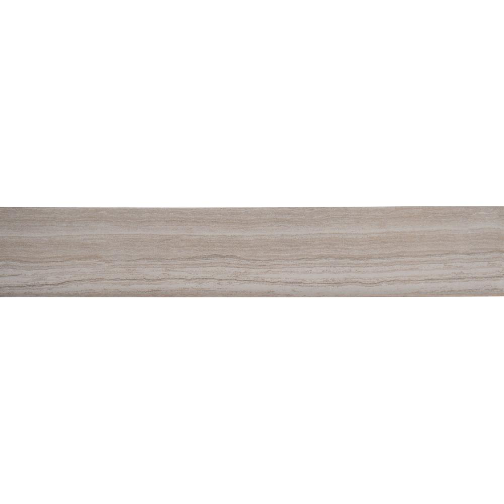 Charisma White 3 in. x 18 in. Glazed Ceramic Bullnose Wall