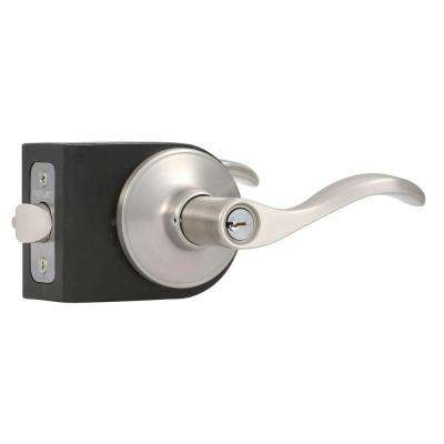 Wave Satin Nickel Entry Lever