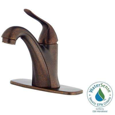 Antioch Single Hole Single-Handle Bathroom Faucet in Tumbled Bronze