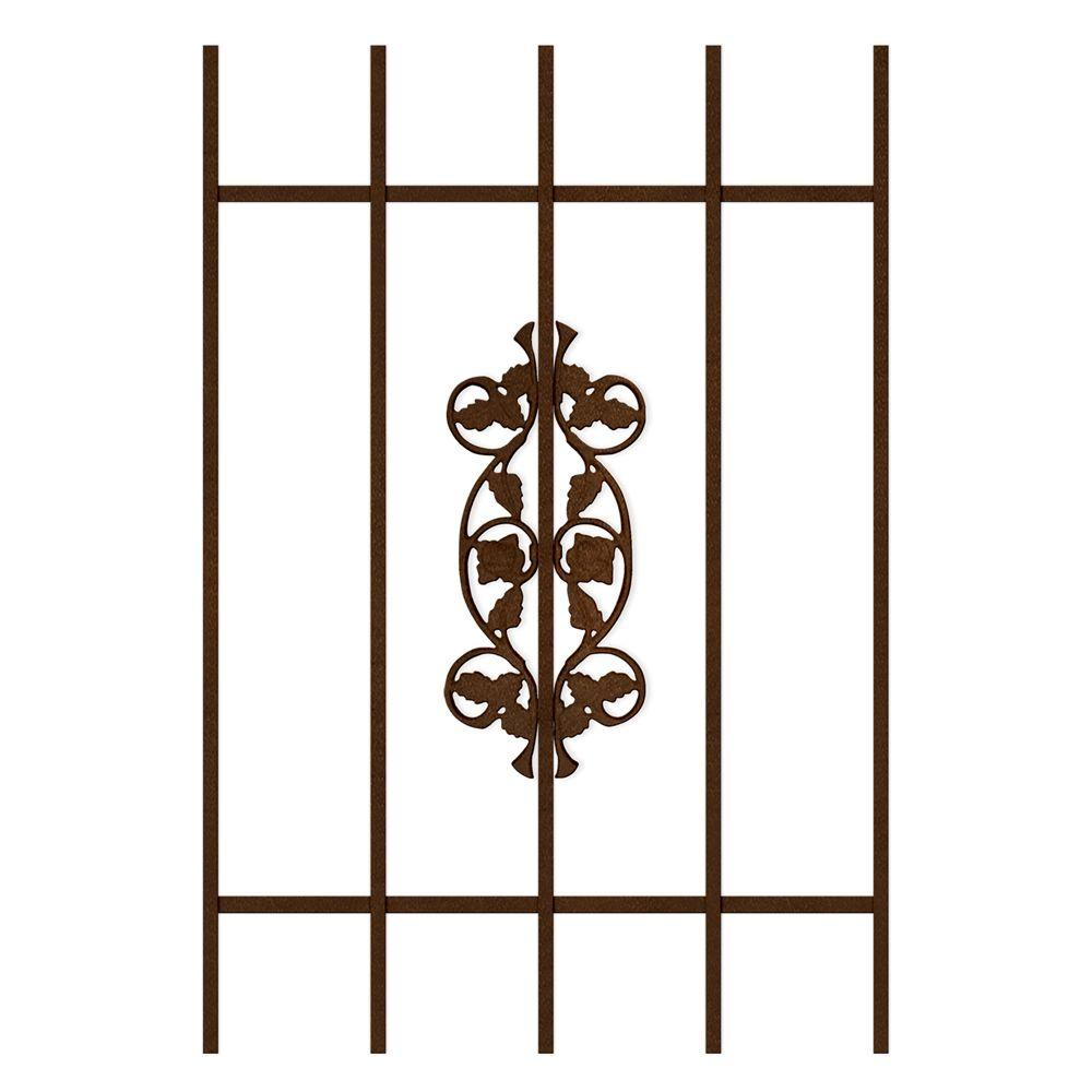Unique Home Designs Rambling Rose 24 in. x 36 in. Copper 5-Bar Window Guard-DISCONTINUED