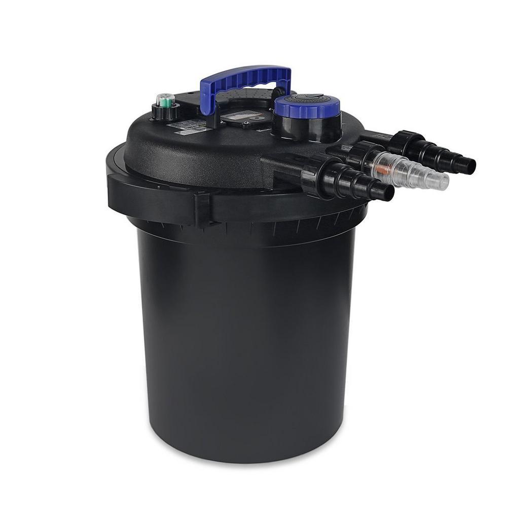 2500 Gal. Pressurized Pond Bio Filter System with UV Clarifier