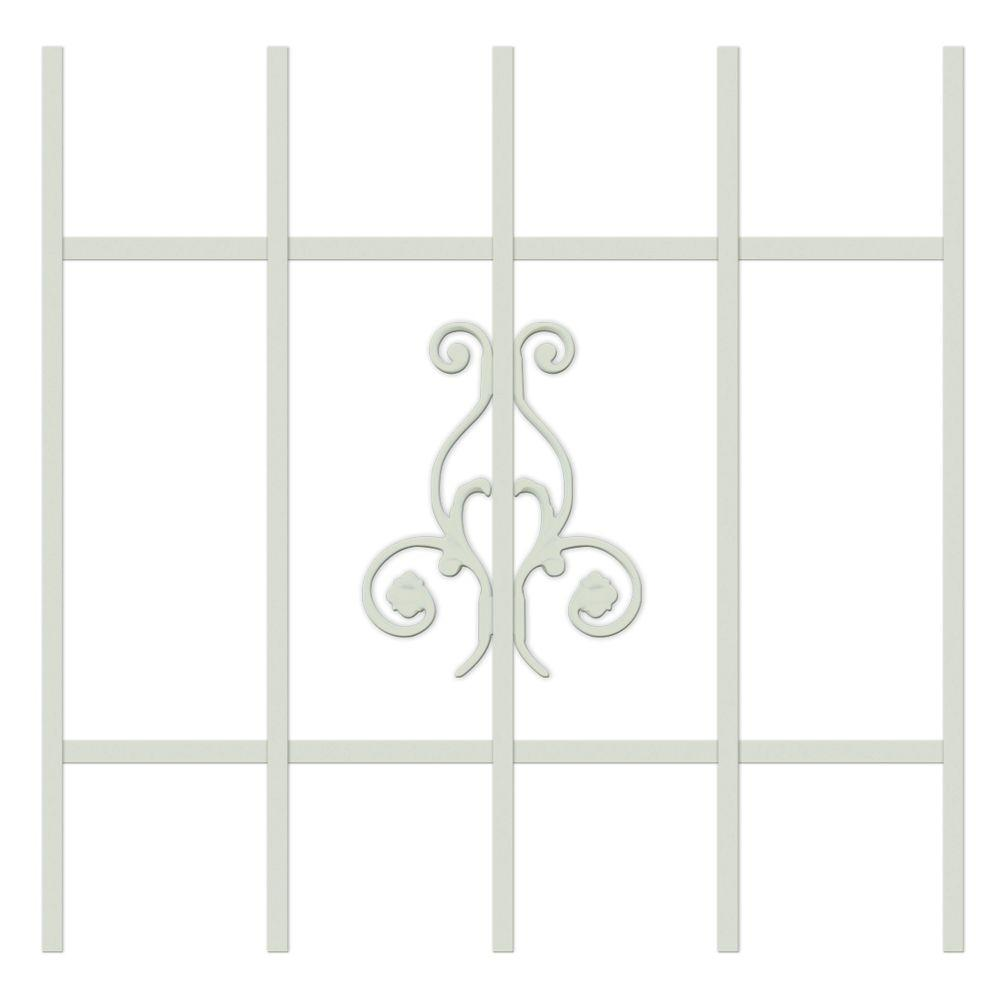 Unique Home Designs La Entrada 24 in. x 24 in. Almond 5-Bar Window Guard-DISCONTINUED