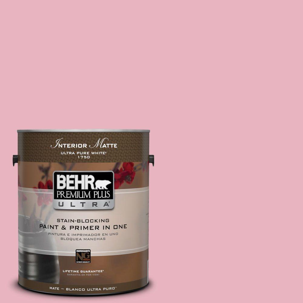 1 gal. #M140-3 Premium Pink Matte Interior Paint