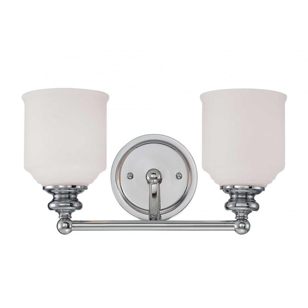 Filament Design Massa 2-Light Polished Chrome Bath Vanity Light