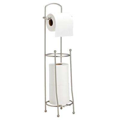 Toilet Paper Holder and Dispenser in Satin Nickel