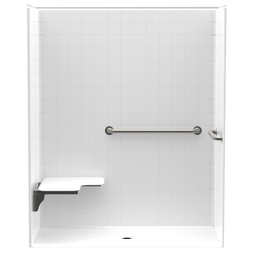 Accessible Smooth Tile AcrylX 60 in. x 30 in. x 74