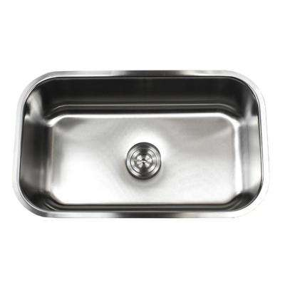 Undermount 16-Gauge Stainless Steel 30 in. x 18-1/8 in. x 10 in. Single Bowl Kitchen Sink