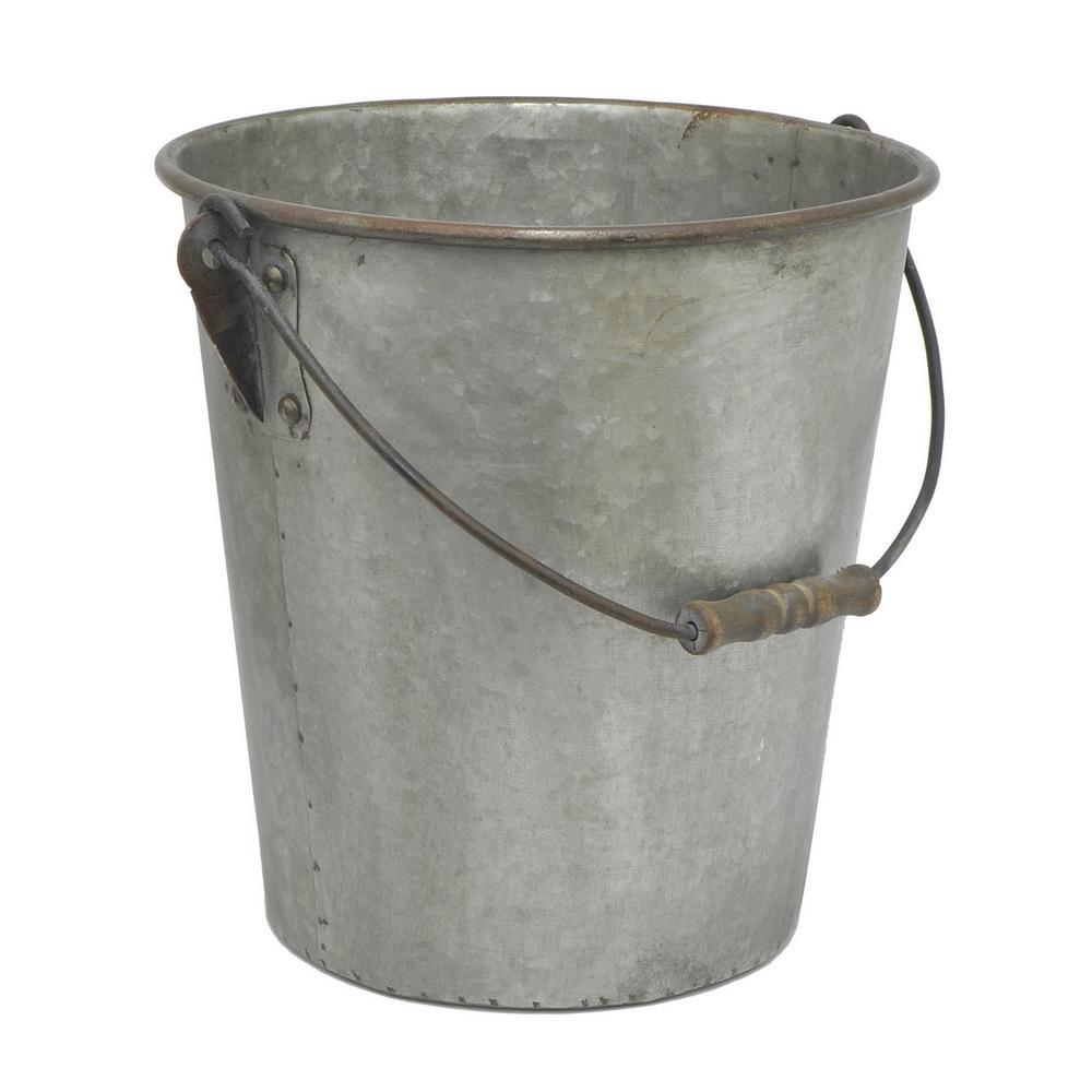 Home Depot Metal Pail : Three hands galvanized metal bucket the home depot