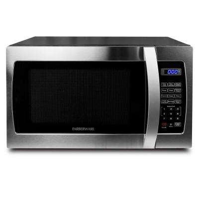 Professional 1.3 cu. Ft. 1000-Watt Countertop Microwave Oven in Stainless Steel