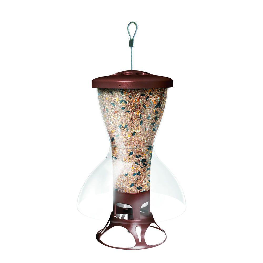 Bird Shelter Squirrel-Proof Bird Feeder, Brown