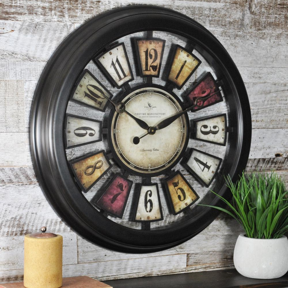 Wall clocks wall decor the home depot 225 in round numeral plaques wall clock amipublicfo Choice Image