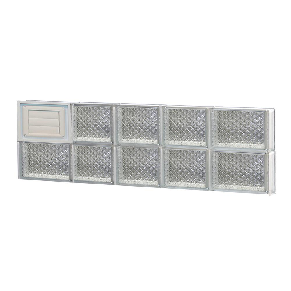 Clearly secure in x 11 5 in x in diamond for Pre assembled glass block windows