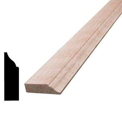 3/8 in. x 1-1/4 in. x 96 in. Oak Colonial Stop Moulding
