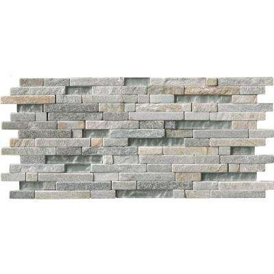 Harvest Moon Interlocking 8 in. x 18 in. x 8 mm Glass and Stone Mesh-Mounted Mosaic Tile (10 sq. ft. / case)