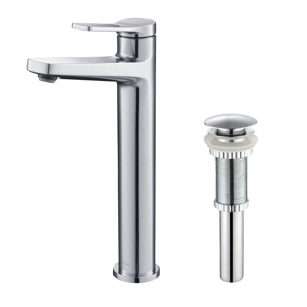 Indy Single Hole Single-Handle Bathroom Faucet in Chrome