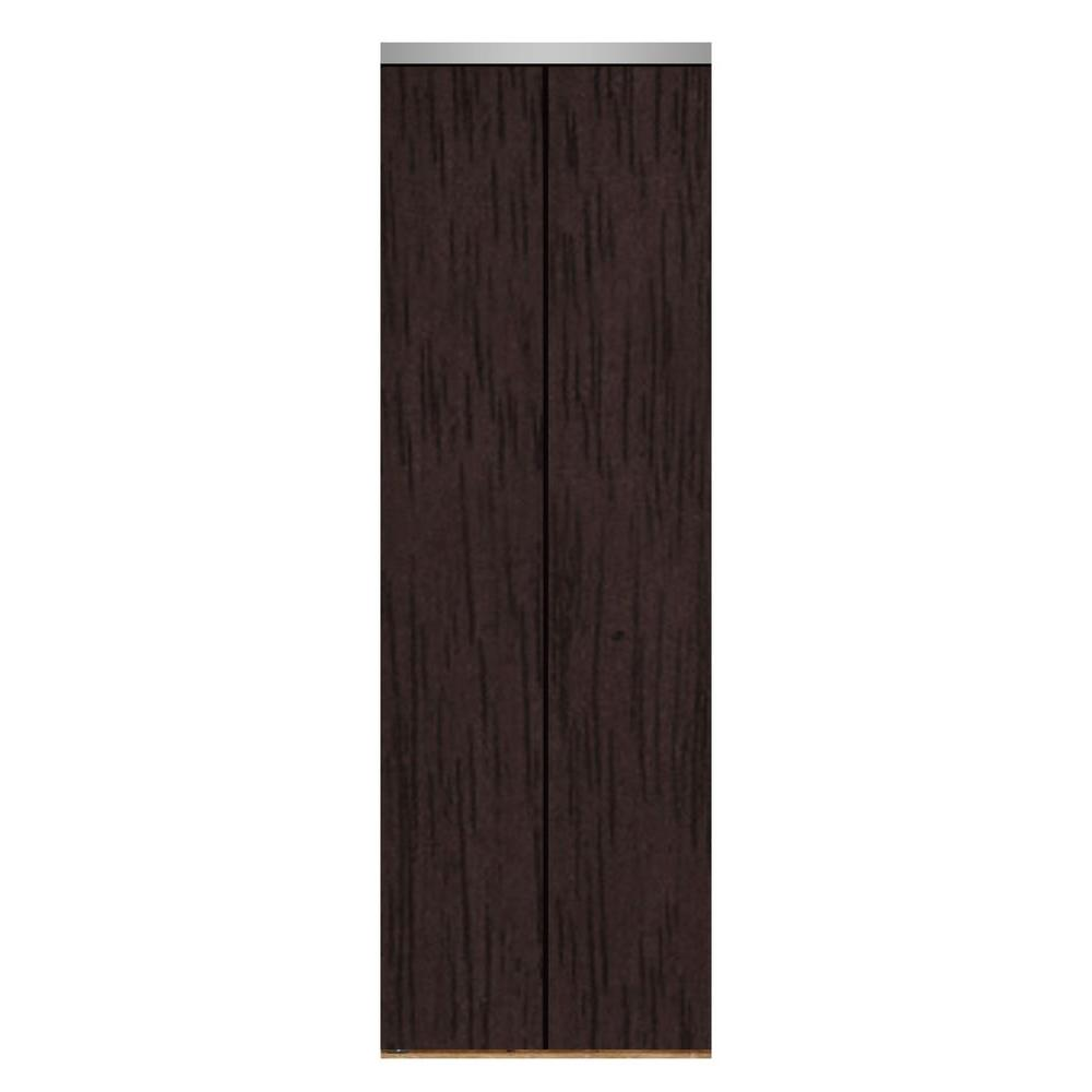 24 in. x 84 in. Smooth Flush Espresso Solid Core MDF