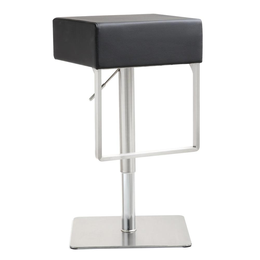 Tov Furniture Seville Black Silver Steel Barstool Tov