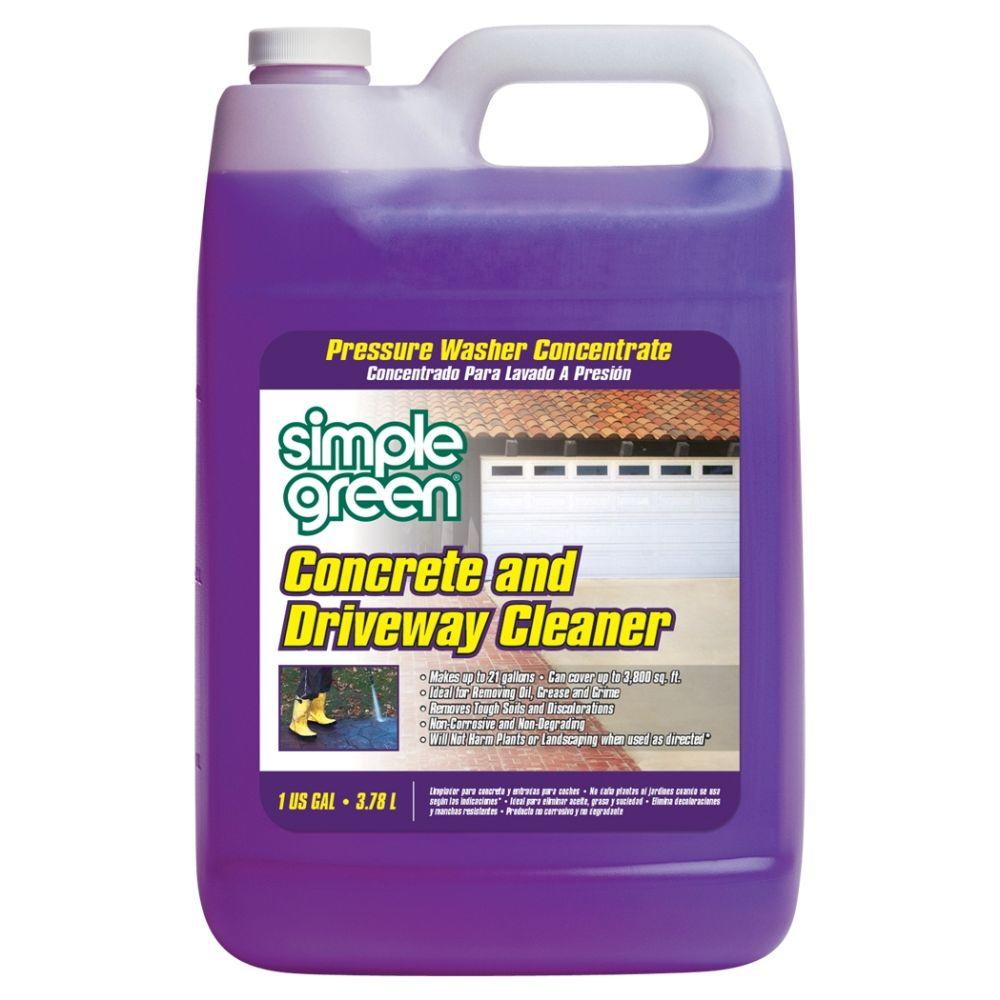 Simple green 128 oz concrete and driveway cleaner for Cleaning oil off cement
