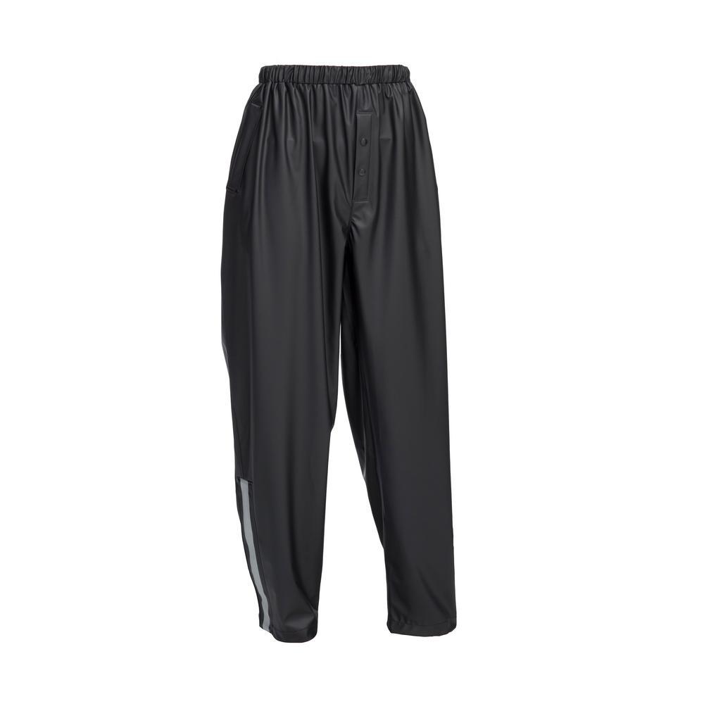 Premium Black Stretch Rain Pants Size Large