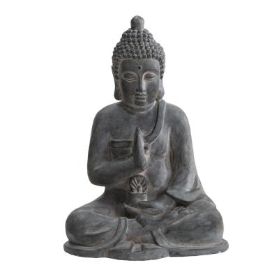 Atlanta Gray Decorative Buddha Garden Decor Statue