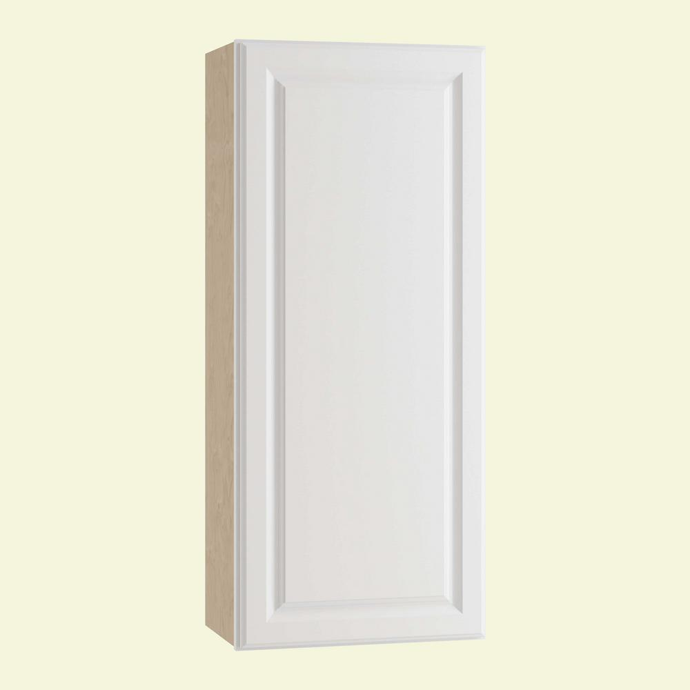 Home Decorators Collection Hallmark Assembled 21x36x12 in. Wall Kitchen Cabinet with 1 Door Right Hand in Arctic White
