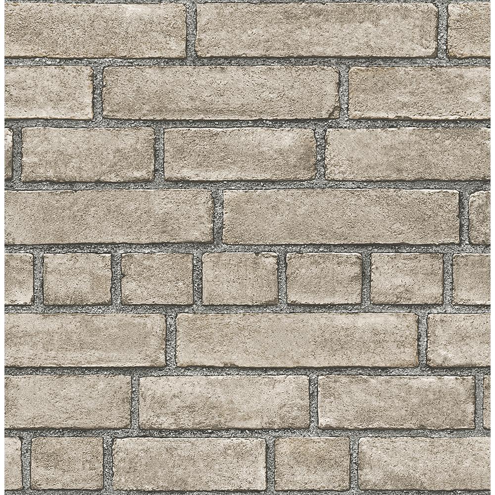 A-Street Facade Taupe Brick Wallpaper 2540-24052