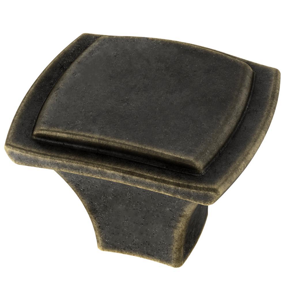 Step Edge 1-1/4 in. (32 mm) Warm Chestnut Cabinet Knob