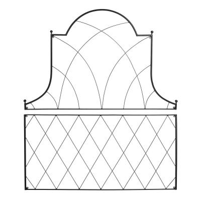 Traditional Somerset Decorative Garden Trellis of 2-Pieces, 53 in. Tall Black Powder Coat Finish