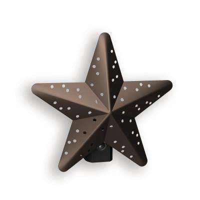 Bronze Tin Star Automatic LED Night Light