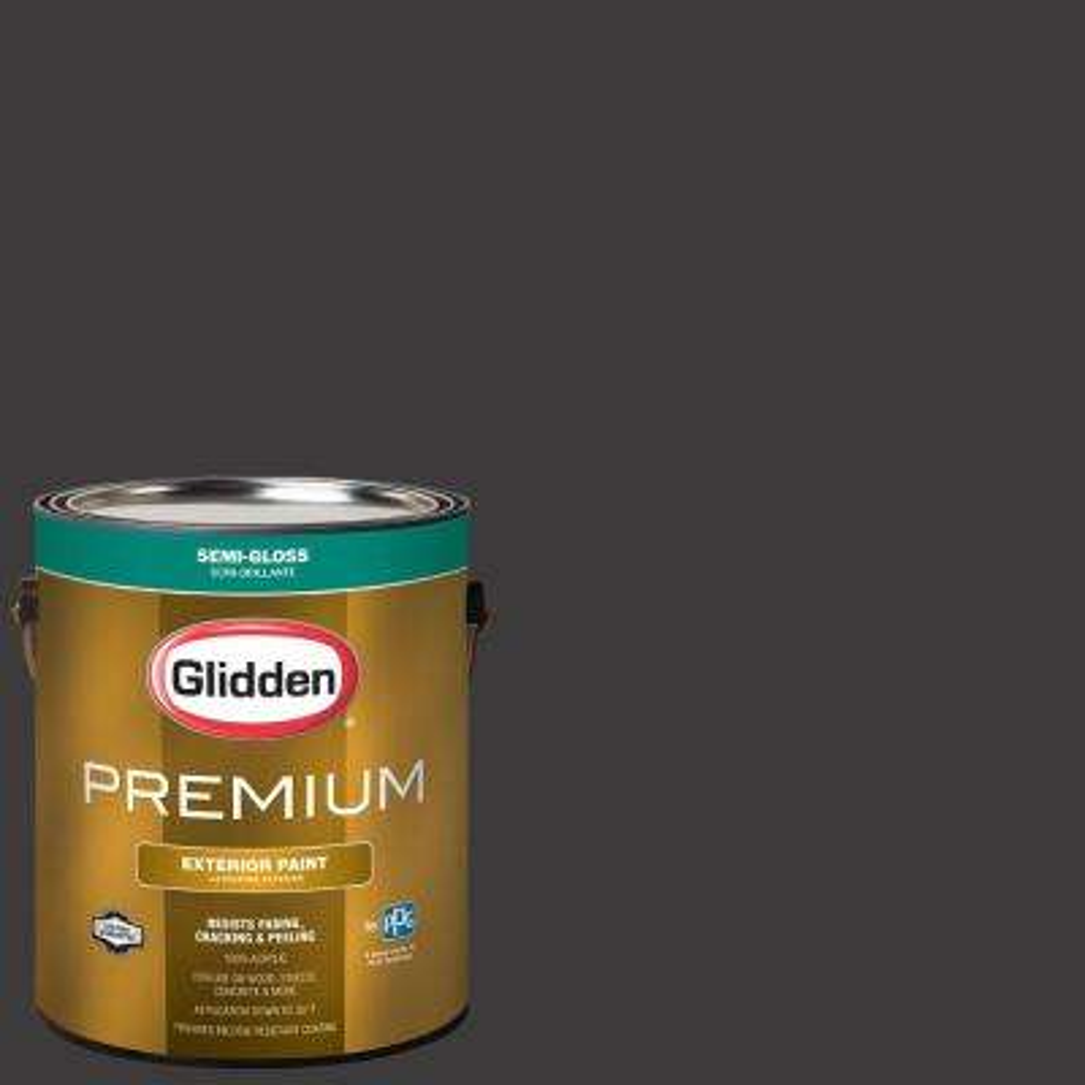 1 gal. #NHL-007G Chicago Blackhawks Black Semi-Gloss Exterior Paint