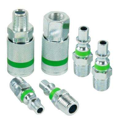 1/4 in. ColorMatch ARO Coupler Plug Set (6-Piece)