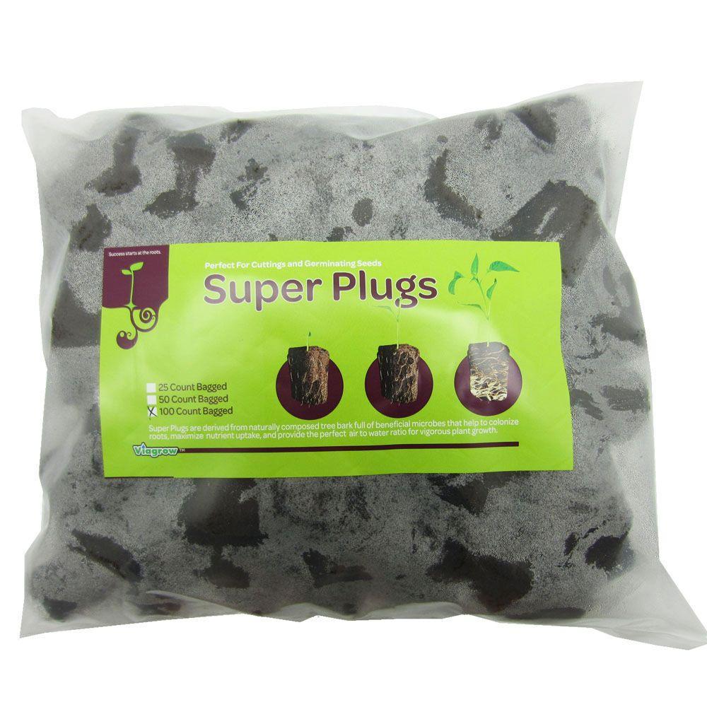 Super Plugs 100 Organic Seed Starter Plugs