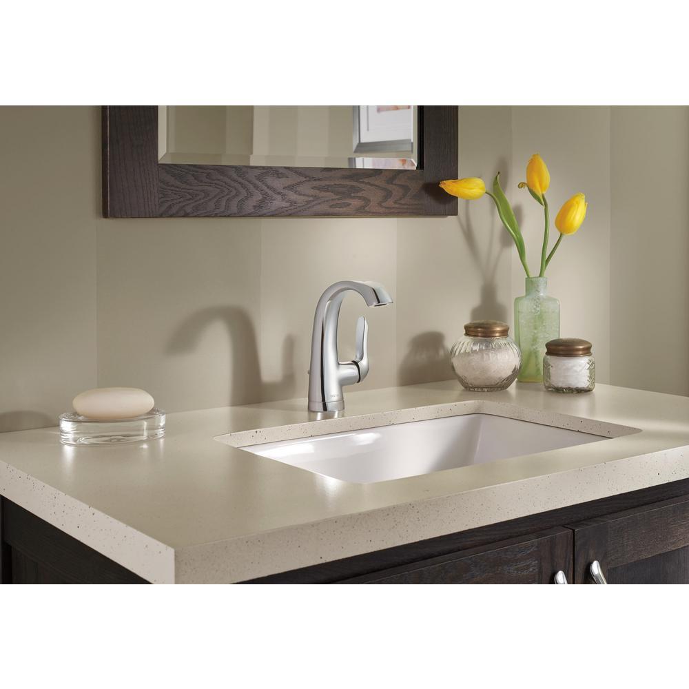 Soline Single Hole Single-Handle Bathroom Faucet in Chrome