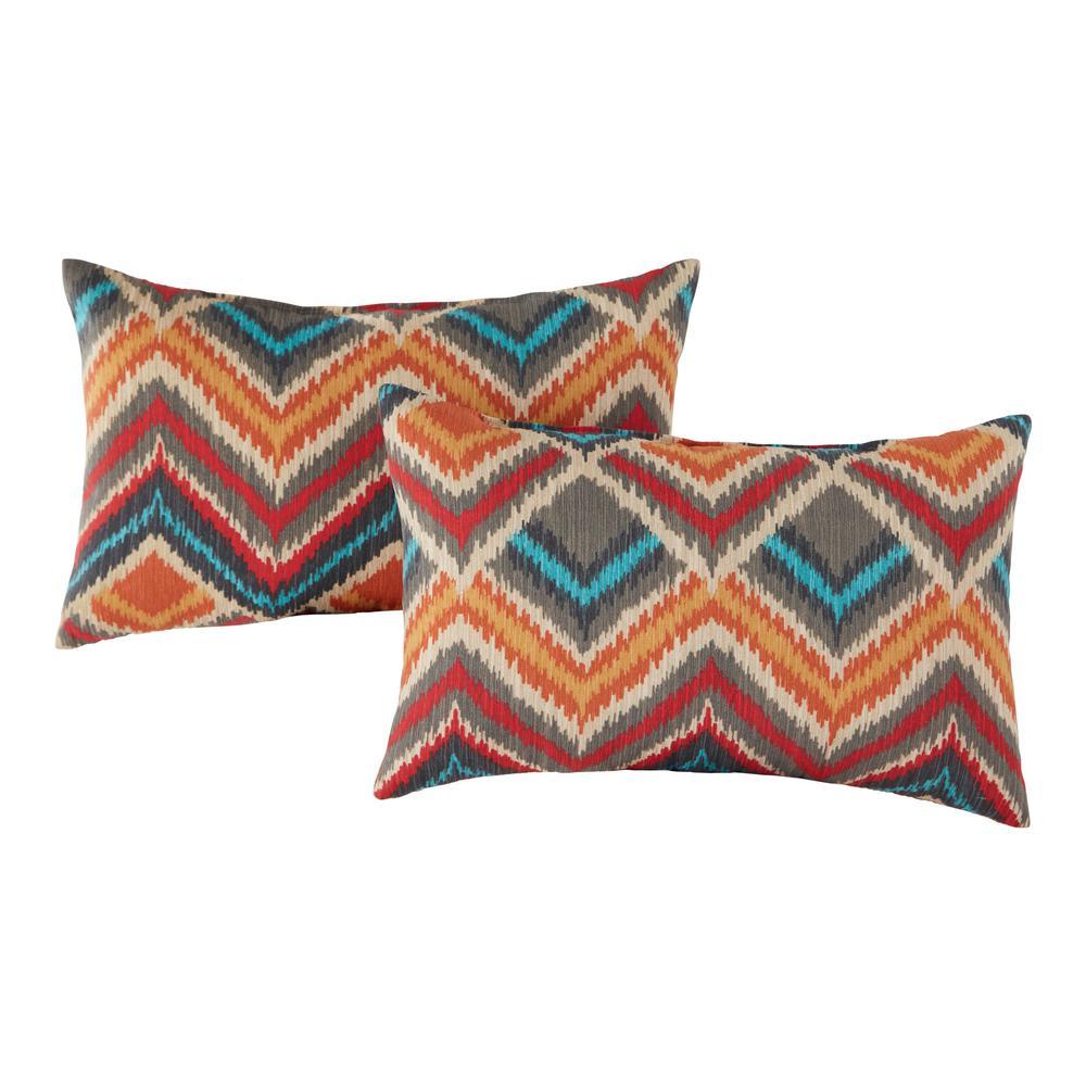 Surreal Outdoor Lumbar Throw Pillow (2-Pack)