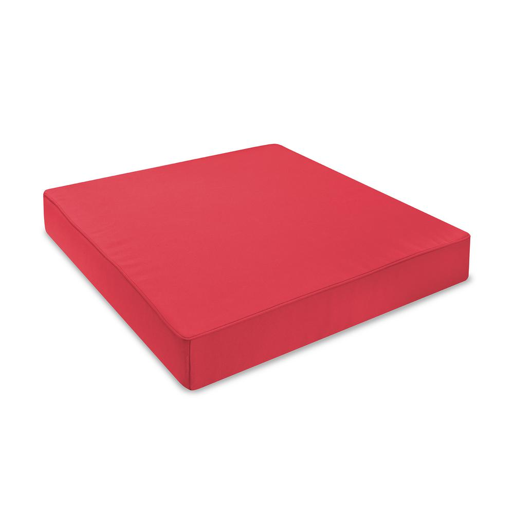 Groovy Sensorpedic 24 In X 24 In Sunbrella Jockey Red Waterproof Memory Foam Outdoor Lounge Chair Cushion Gmtry Best Dining Table And Chair Ideas Images Gmtryco