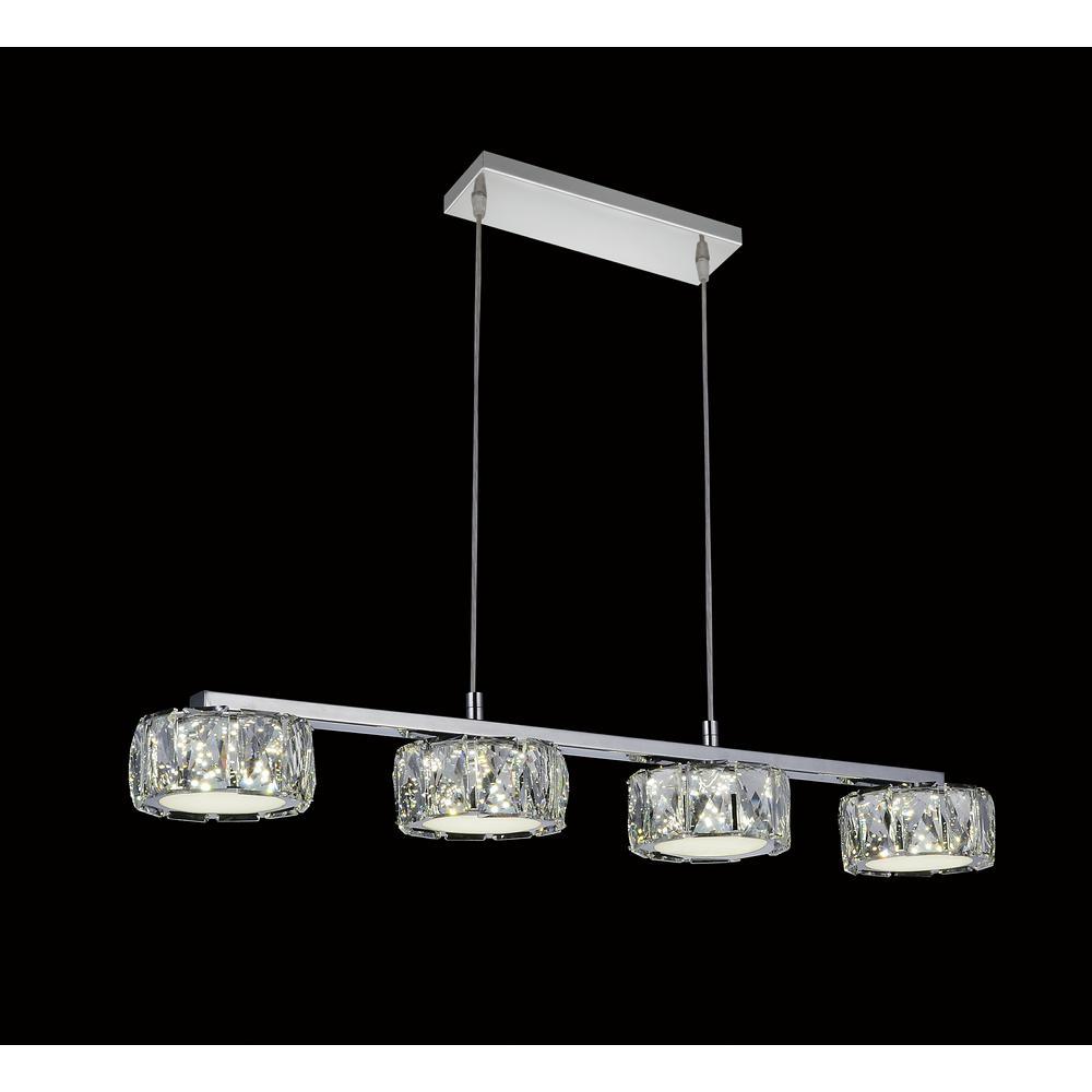 Milan 3-Watt Chrome Integrated LED Chandelier