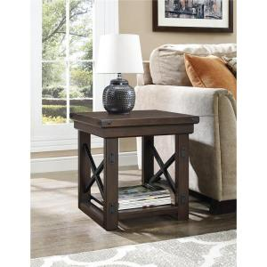 Altra Furniture Wildwood Mahogany Storage End Table by Altra Furniture