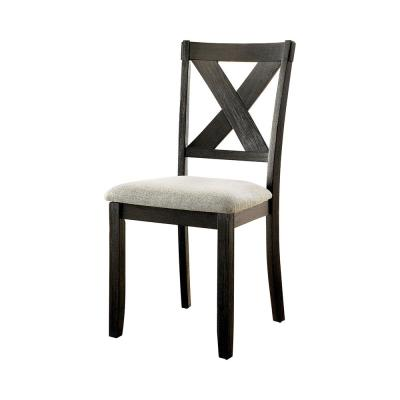 Winsen Black and Ivory Side Chairs (Set of 2)